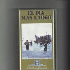 Cine: PELICULA EL DIA MAS LARGO VHS.. Lote 54104584