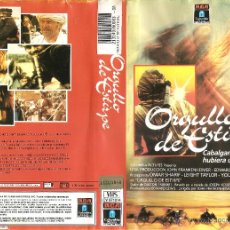 Cine: VHS ORGULLO DE ESTIRPE - OMAR SHARIF - JACK PALANCE. Lote 54422119