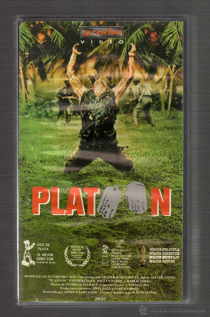CINTA VHS: PLATOON - DIRECTOR: OLIVER STONE (INT: CHARLIE SHEEN · TOM BERENGER · WILLEM DAFOE) (Cine - Películas - VHS)