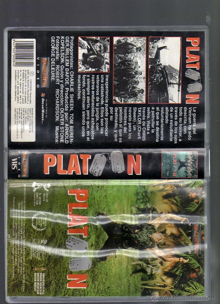 Cine: CINTA VHS: PLATOON - DIRECTOR: OLIVER STONE (INT: Charlie Sheen · Tom Berenger · Willem Dafoe) - Foto 4 - 55024109