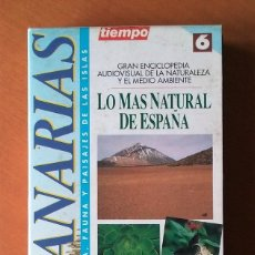 Cine: ENCICLOPEDIA AUDIOVISUAL NATURALEZA Y MEDIO AMBIENTE. LO MAS NATURAL DE ESPAÑA. VHS Nº6. CANARIAS.. Lote 55169063