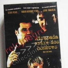 Cine: ATRAPADA ENTRE DOS HOMBRES - PELÍCULA DRAMA - SEAN PENN -R WRIGHT PENN - JOHN TRAVOLTA - VHS DIFÍCIL. Lote 55192665
