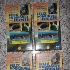 Cine: EL HOMBRE Y LA TIERRA - FÉLIX RODRÍGUEZ DE LA FUENTE - FAUNA IBÉRICA- LOTE DE 4 CINTAS VHS ORIGINAL.. Lote 55309589