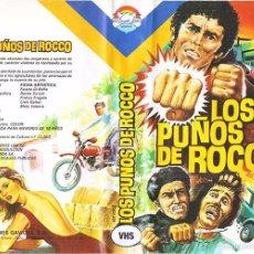 Cine: VHS\. LOS PUÑOS DE ROCCO • CINTA VHS + TRANSFER DVD GRATIS • EURO-CRIMEN / POLIZIESCO. Lote 55377780