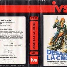 Cine: VHS\. DESAFIO A LA CIUDAD / UMBERTO LENZI, TOMAS MILIAN • EURO-CRIMEN • VHS + DVD TRANSFER GRATIS. Lote 55383088