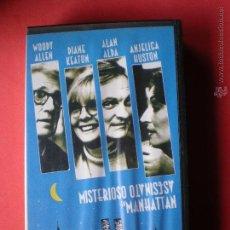 Cine: PELICULA VHS, MISTERIOSO ASESINATO EN MANHATTAN, DE WOODY ALLEN, AÑO 1993. Lote 40661665