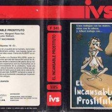 Cine: VHS\. EL INCANSABLE PROSTITUTO • TRASH ERÓTICA CALSIFICADA 'S • VHS + TRANSFER DVD GRATIS. Lote 55384075