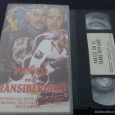 Cine: PANICO EN EL TRANSIBERIANO-PETER CUSHING / CHRISTOPHER LEE / SAVALAS / EUGENIO MARTIN-VHS. Lote 55555584