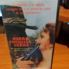 Cine: CORRE CUCHILLO CORRE - VHS- TOMAS MILIAN. Lote 56039266