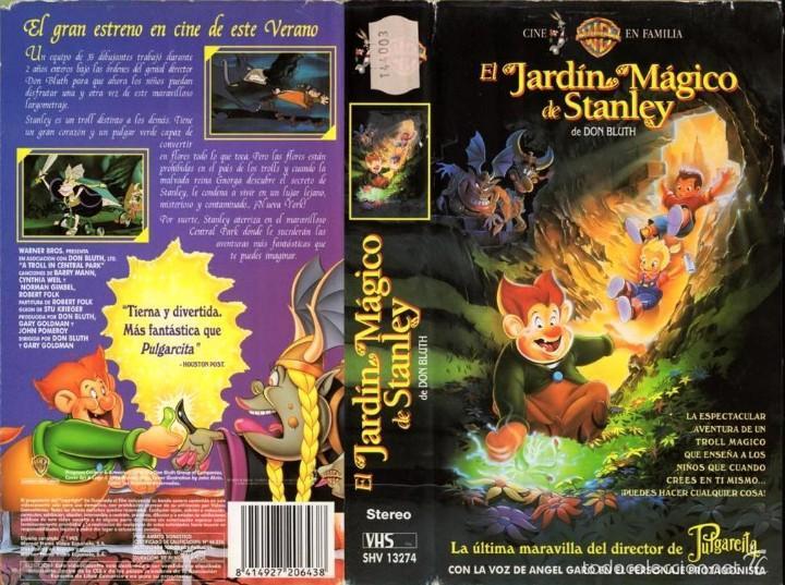 Vhs el jardin magico de stanley don bluth comprar for El jardin magico