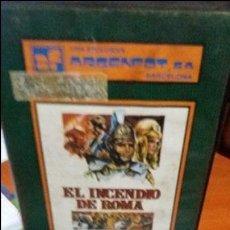 Cine: EL INCENDIO DE ROMA - GUIDO MALATESTA CON LANG JEFFRIES - VHS. Lote 56400500