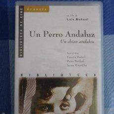 Cine: UN PERRO ANDALUZ. LUIS BUÑUEL. BIBLIOTECA DE CINE Nº 90. UN CHIEN ANDALOU 1928. Lote 56474831