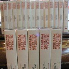 Cine: COLECCION COMPLETA 20 VHS HISTORIA DE LAS CIVILIZACIONES PERDIDAS. Lote 56743267