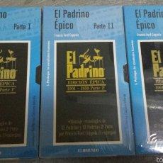 Cine: VHS 3 PELICULAS TRILOGÍA DE EL PADRINO . Lote 56803885