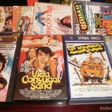 Cine: VHS. LOTE DE 4 PELÍCULAS (ALBONDIGAS, DESPIDO IMPROCEDENTE, VIDA CONYUGAL, NOVIOS MI MUJER). REGALO. Lote 56890108