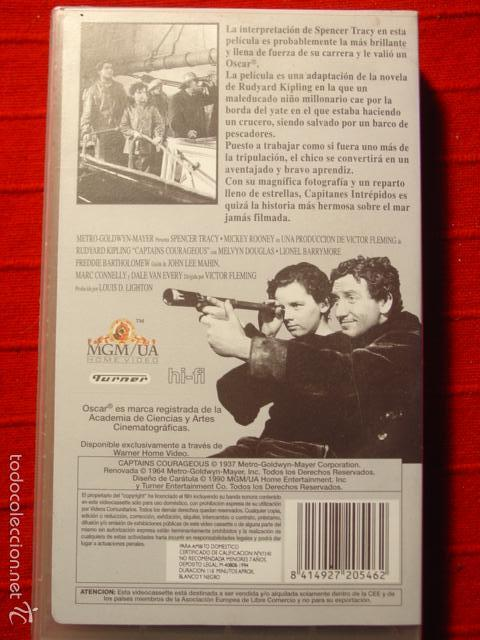 Cine: VHS Capitanes Intrépidos. Spencer Tracy y Mickey Rooney - Foto 3 - 57180310