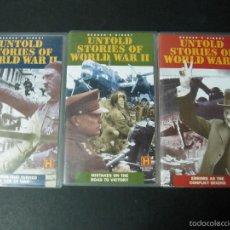Cine: 3 VHS VIDEO UNTOLD STORIES OF WORLD WAR II VERSION ORIGINAL HISTORIAS NO CONTADAS SEGUNDA GUERRA . Lote 57478777