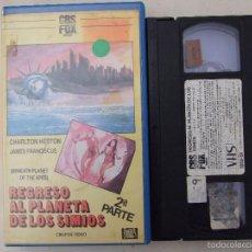 Cine: REGRESO AL PLANETA DE LOS SIMIOS - TED POST - CHARLTON HESTON , JAMES FRANCISCUS - CBS 1986. Lote 57488620