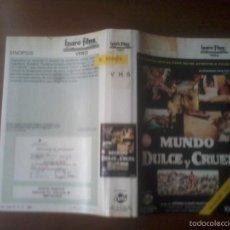 Cine: PELICULA EN VHS. MUNDO DULCE Y CRUEL - 1983.. Lote 57800572