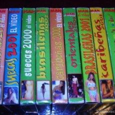 Cine: LOTE 9 CINTAS VHS MAN : BRASILEÑAS, CARIBEÑAS, SUECAS, ETC... Lote 57818081