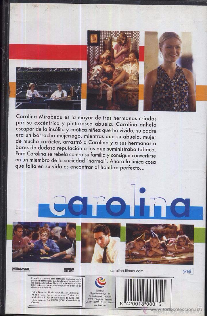 Cine: VHS peli CAROLINA - JULIA STILES - SHIRLEY MACLAINE - ALLESANDRO NIVOLA --RefM1Arr - Foto 2 - 57821291