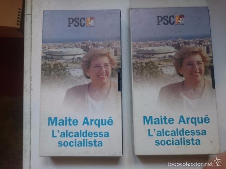 VHS 2 CINAS IGUALES PROPAGANDA POLITICA BADALONA - MAITE ARQUE ALCADESA BADALONA -REFALYACOSUENEM (Cine - Películas - VHS)