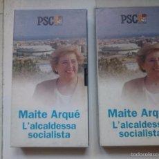 Cine: VHS 2 CINAS IGUALES PROPAGANDA POLITICA BADALONA - MAITE ARQUE ALCADESA BADALONA. Lote 57840462