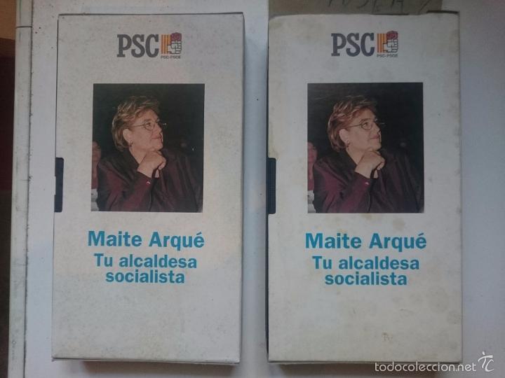 Cine: VHS 2 CINAS IGUALES PROPAGANDA POLITICA BADALONA - MAITE ARQUE ALCADESA BADALONA -RefAlYaCoSuEnEm - Foto 2 - 57840462
