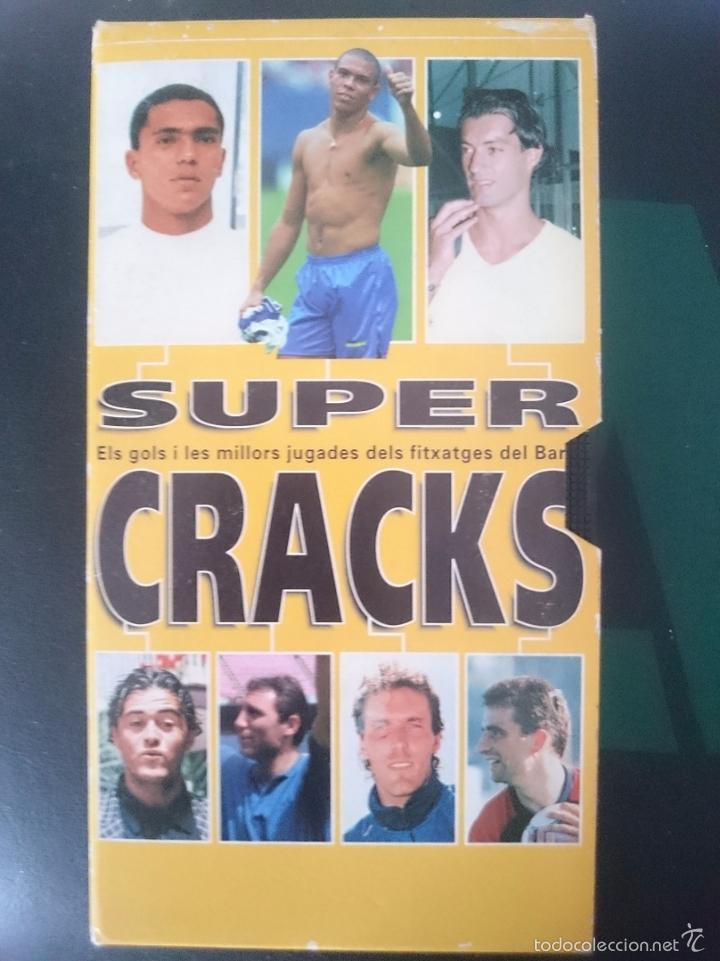 VHS FUTBOL SUPER CRACKS ELS GOLS I LES MILLORS JUGADES DELS FITXATGES DEL BARÇA -REFM1E3 (Cine - Películas - VHS)