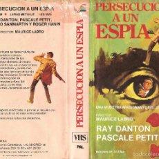 Cine: PERSECUCION A UN ESPIA - MAURICE LABRO VHS VIDEOESPAÑA. Lote 58074987