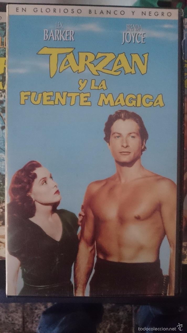 VHS - TARZAN - TARZAN Y LA FUENTE MAGICA -- LEX BARKER - BRENDA JOYCE --REFM1E4 (Cine - Películas - VHS)