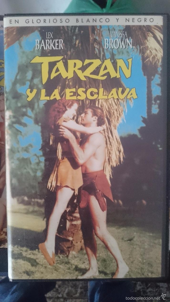 VHS - TARZAN - TARZAN Y LA ESCLAVA -- LEX BARKER - VANESSA BROWN --REFM1E4 (Cine - Películas - VHS)