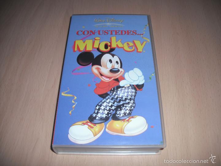 CON USTEDES... MICKEY - WALT DISNEY - VHS (Cine - Películas - VHS)