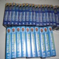 Cine: CAJ-654 PELICULA VHS IMPRESIONANTE LOTE DE 28 CINTAS DE COUSTEAU. Lote 58336575