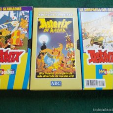 Cine: LOTE 3 VHS ASTERIX. Lote 58509788