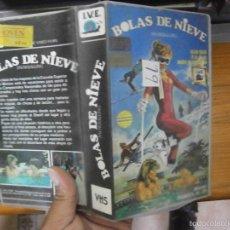 Cine: BOLAS DE NIEVE-VHS(COMPRA MINIMA 10 EURO--). Lote 58545157