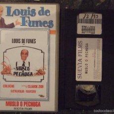 Cine: MUSLO O PECHUGA - CLAUDE ZIDI - LOUIS DE FUNES , COLUCHE - SUEVIA. Lote 58598744