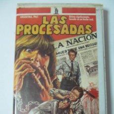 Cine: VIDEO VHS LAS PROCESADAS. PELICULA ARGENTINA. NO EDITADA EN DVD. BASADA EN HECHOS REALES. DIFICIL. Lote 58676853