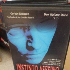 Cine: INSTINTO ASESINO- VHS- SLASHER. Lote 59644523