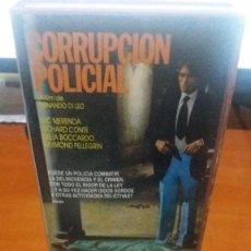 Cine: CORRUPCION POLICIAL - VHS - POLIZIESCO - LUC MERENDA - FERNANDO DI LEO- DESCATALOGADA. Lote 60205415