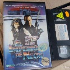 Cine: IMPERIO DE NEON- VHS- MICHAEL IRONSIDE - POSTAPOCALIPTICO. Lote 60684739