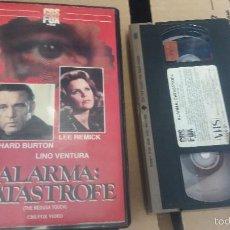 Cine: ALARMA:CATASTROFE- VHS- RICHARD BURTON. Lote 61351802