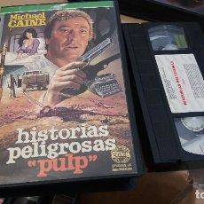 Cine: HISTORIAS PELIGROSAS (PULP)- VHS- MICHAEL CAINE Y MICKEY ROONEY. Lote 61519211
