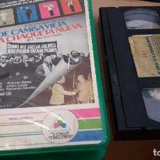 Cine: DE CAMISA NUEVA A CHAQUETA VIEJA- VHS- JOSE LUIS LOPEZ VAZQUEZ, 1982. Lote 61563808