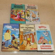 Cine: LOTE 5 VIDEOS VHS INFANTILES: MORTADELO, TINTIN, ASTERIX V. Lote 62147712