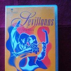 Cine: SEVILLANAS CARLOS SAURA VHS. Lote 112926688