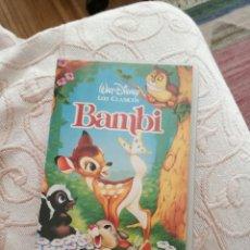 Cine: PELÍCULA DE DISNEY BAMBI VHS (EDICIÓN LIMITADA). Lote 62446052
