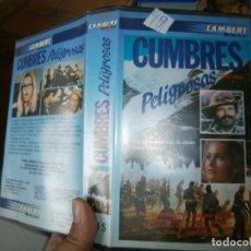Cine: CUMBRES PELIGROSAS-VHS. Lote 62579580