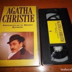 Cine: AGATHA CHRISTIE ASESINATO EN EL ORIENT EXPRESS VHS 1974 ESPAÑA ALBERT FINNEY LAUREN BACALL . Lote 62750460