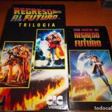 Cine: REGRESO AL FUTURO VHS VIDEO TRILOGIA + LOS SECRETOS EDICION COLECCIONISTA 1989 ESPAÑA MICHAEL J FOX. Lote 62757848